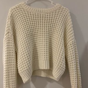 PacSun white chunky sweater size Small